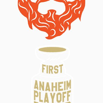 First ANAHEIM Playoff Beard by pointandthread