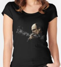 Tony Soprano Smoking A Sigar Women's Fitted Scoop T-Shirt