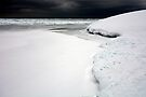 Snow Storm - Lake Superior by Michael Treloar