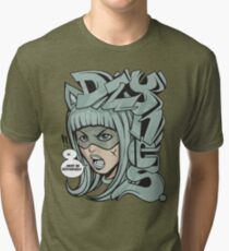 Dzynes must be destroyed! (aqua) Tri-blend T-Shirt
