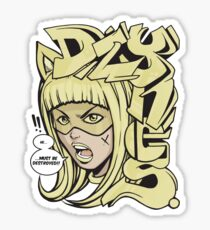 Dzynes must be destroyed! (yellow) Sticker
