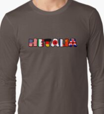 WORLD HETALIA FLAGS Long Sleeve T-Shirt