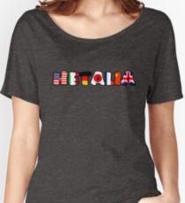 WORLD HETALIA FLAGS Women's Relaxed Fit T-Shirt