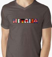 WORLD HETALIA FLAGS Men's V-Neck T-Shirt
