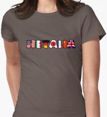 Camiseta entallada BANDERAS MUNDIALES DE HETALIA