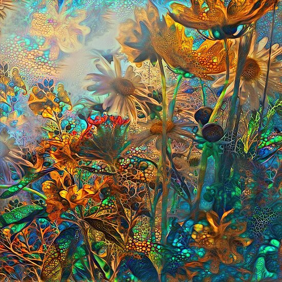 Fantasy floral abstract