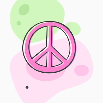 Peace symbol on pastel colors, sticker de Mhea