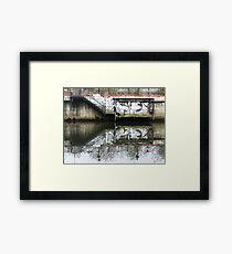 Manchester Canal Reflection Street Art Graffiti  Framed Print