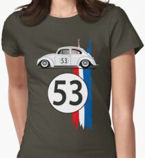 VW Beetle Herbie Womens Fitted T-Shirt