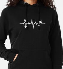 Music Pulse, Notes, Clef, Frequency, Wave, Sound, Dance Leichter Hoodie