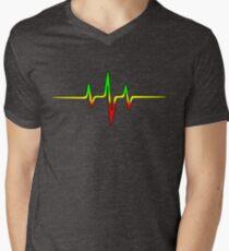 Music Pulse, Reggae, Sound Wave, Rastafari, Jah, Jamaica, Rasta T-Shirt