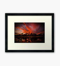 Yornaning Sunset Framed Print