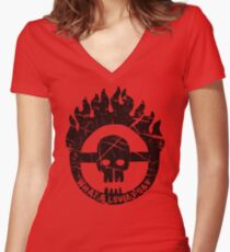 Max, Take The Wheel Women's Fitted V-Neck T-Shirt