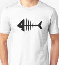 Fishbone skeleton Unisex T-Shirt