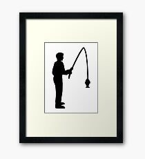 Fishing angler Framed Print