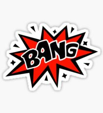 COMIC BANG! Speech Bubble, Comic Book Explosion, Cartoon Sticker