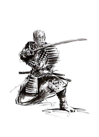 Samurai art print samurai sword japan poster japan photography japan style japan wall decor samurai poster