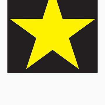 Gold Star on Black-Sticker Only by VeritasEst