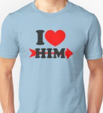 LOVE HIM, Couple, Heart, I Love You, Pair, Valentine` Day T-Shirt