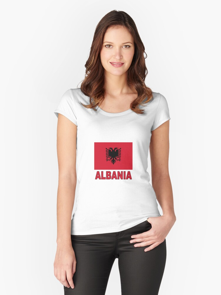 The Pride of Albania Women's Fitted Scoop T-Shirt Front