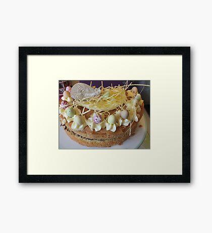 Easter cake. Framed Print