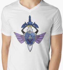 Master Sword - Hylian Shield Aegislash Men's V-Neck T-Shirt