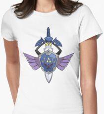 Master Sword - Hylian Shield Aegislash Womens Fitted T-Shirt