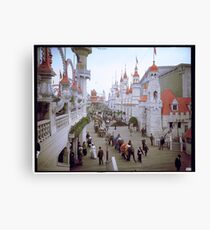 "Coney Island, New York. ""Luna Park Promenade"", ca. 1905 Canvas Print"