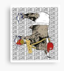 Latino Bull with Jordans Canvas Print