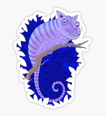 Cheshire Cat Chameleon Sticker