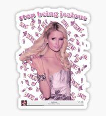 Paris Hilton 'Stop Being Jealous' Art v.2 Sticker