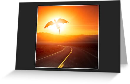 Speed limit enforced by dragons (no text) (6x4 card version) by Zero Dean