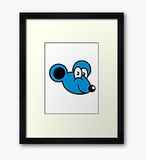 mouse funny sweet Framed Print