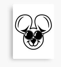 fun friendly mouse sunglasses Canvas Print