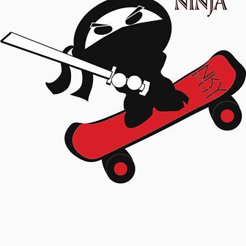 Skateboard Ninja  by Stinkyfut