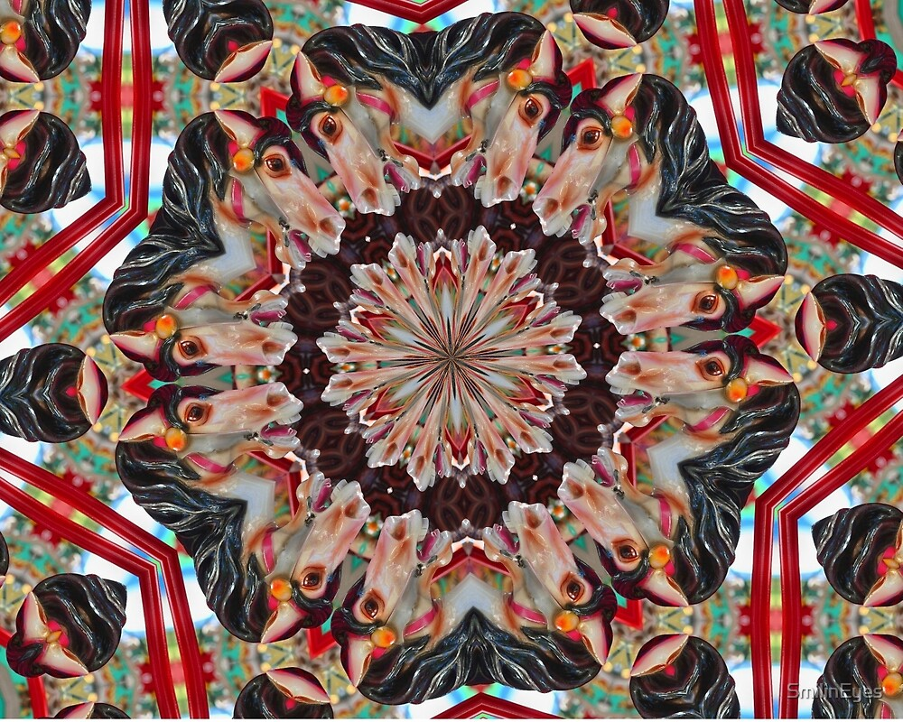 Laughing Steed Kaleidoscope by SmilinEyes