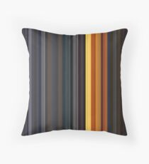 Moviebarcode: Sequence from Kill Bill: Vol. 1 - Chapter 3: The Origin of O-Ren (2003) [Simplified Colors] Throw Pillow