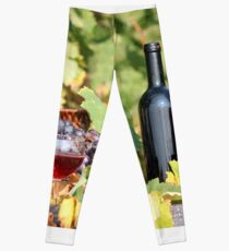 red wine Leggings