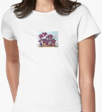 Oxalis or Shamrock Plant Womens Fitted T-Shirt
