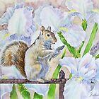 The Squirrel and Flowers by Natalia Piacheva