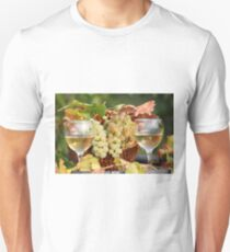 two glasses of white wine Unisex T-Shirt