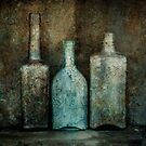 Rusty Bottles by Barbara Ingersoll