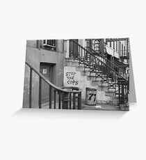 Stop the Cops, East Village 1968 Greeting Card