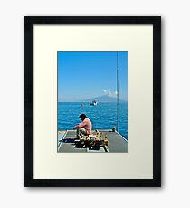 Contemplating Vesuvio Framed Print