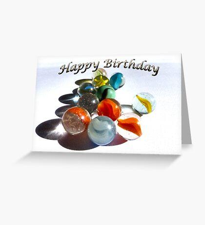 Happy Birthday Marbles Greeting Card
