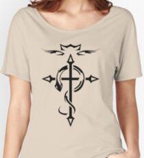 Black Fullmetal Alchemist Flamel Women's Relaxed Fit T-Shirt