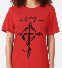 Black Fullmetal Alchemist Flamel Slim Fit T-Shirt