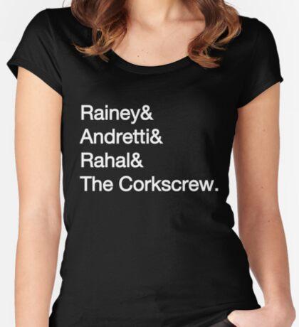 Laguna Seca Typography - Dark Edition Women's Fitted Scoop T-Shirt