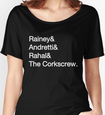 Laguna Seca Typography - Dark Edition Women's Relaxed Fit T-Shirt