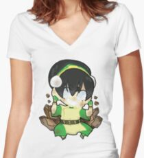 Avatar the Last Airbender || Toph Women's Fitted V-Neck T-Shirt
